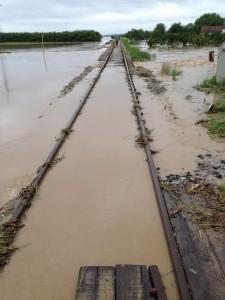 Zbog poplava prekinut promet između nekih kolodvora u Slavoniji