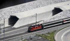 Vlak ispred tunela Gotthard © AFP
